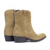 RODEO - Bottine Cowboy en cuir BEIGE