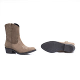 RODEO - Bottine Cowboy en cuir TAUPE