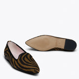 SLIPPER ZÈBRE - Slipper Animal Print MARRON ZEBRE
