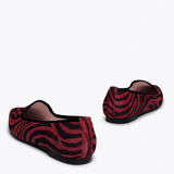 SLIPPER ZÈBRE - Slipper Animal Print ROUGE ZEBRE