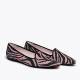 SLIPPER ZÈBRE - Slipper Animal Print ROSE ZEBRE