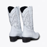 DALLAS - Bottes style cow-boy BLANC