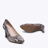 URBAN GLAM - Talons aiguilles stiletto ROSE SERPENT