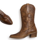 DALLAS - Bottes style cow-boy MARRON