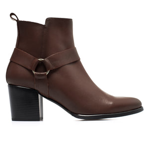 MOTERO -Bottines MARRON pour femme