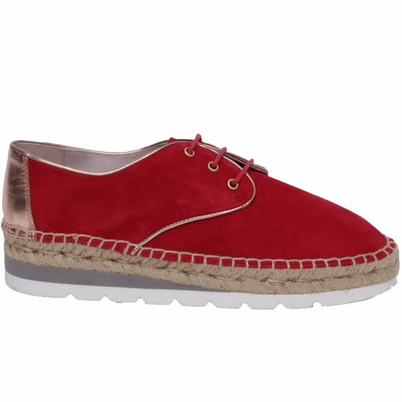 Derby Espadrilles Fashion Rouge