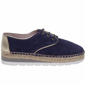Derby Espadrilles Fashion Bleu