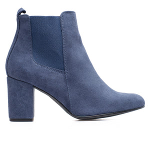 BOTTINES URBAN- Bottines à talon BLEU JEANS