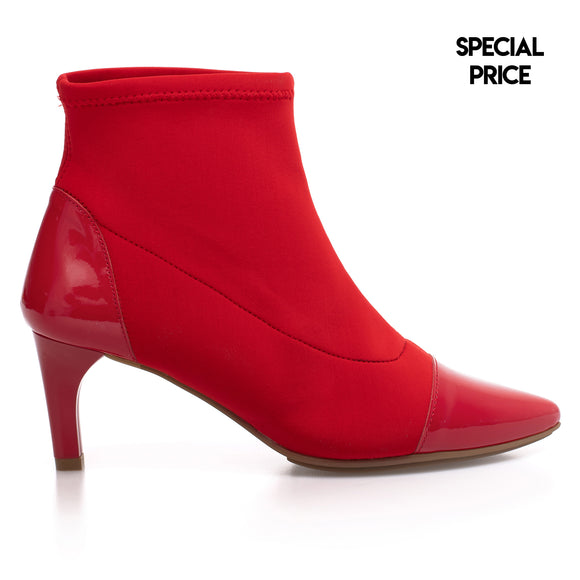 ELEGANT - Bottine Chaussette ROUGE