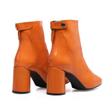 VERNI - Bottines en cuir verni ORANGE