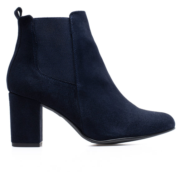 BOTTINES URBAN- Bottines à talon BLEU MARINE