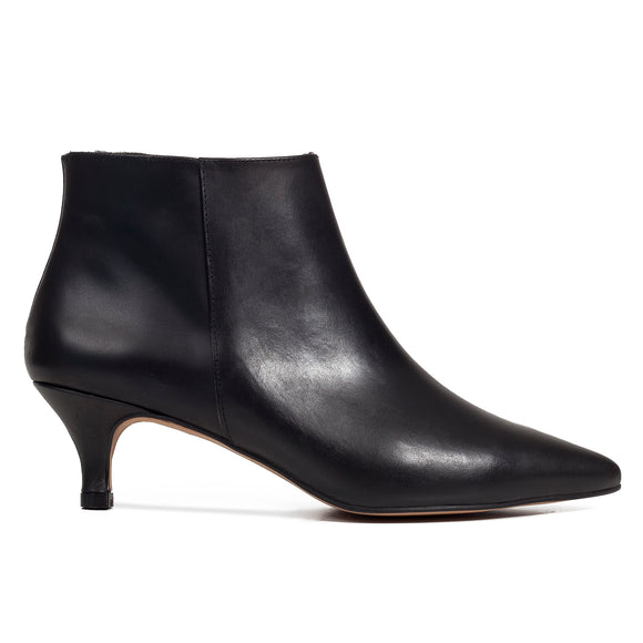 OUTFIT - bottines kitten heel cuir noir