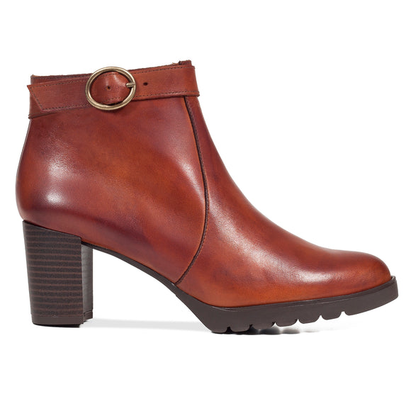 CLASSIC À BOUCLE – Bottines 100% cuir MARRON