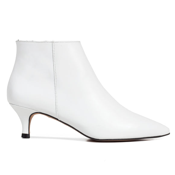 OUTFIT - bottines kitten heel blanc