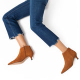 OUTFIT - bottines kitten heel camel