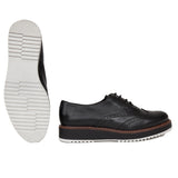 DERBY ANGLAIS- Blucher style oxford NOIR