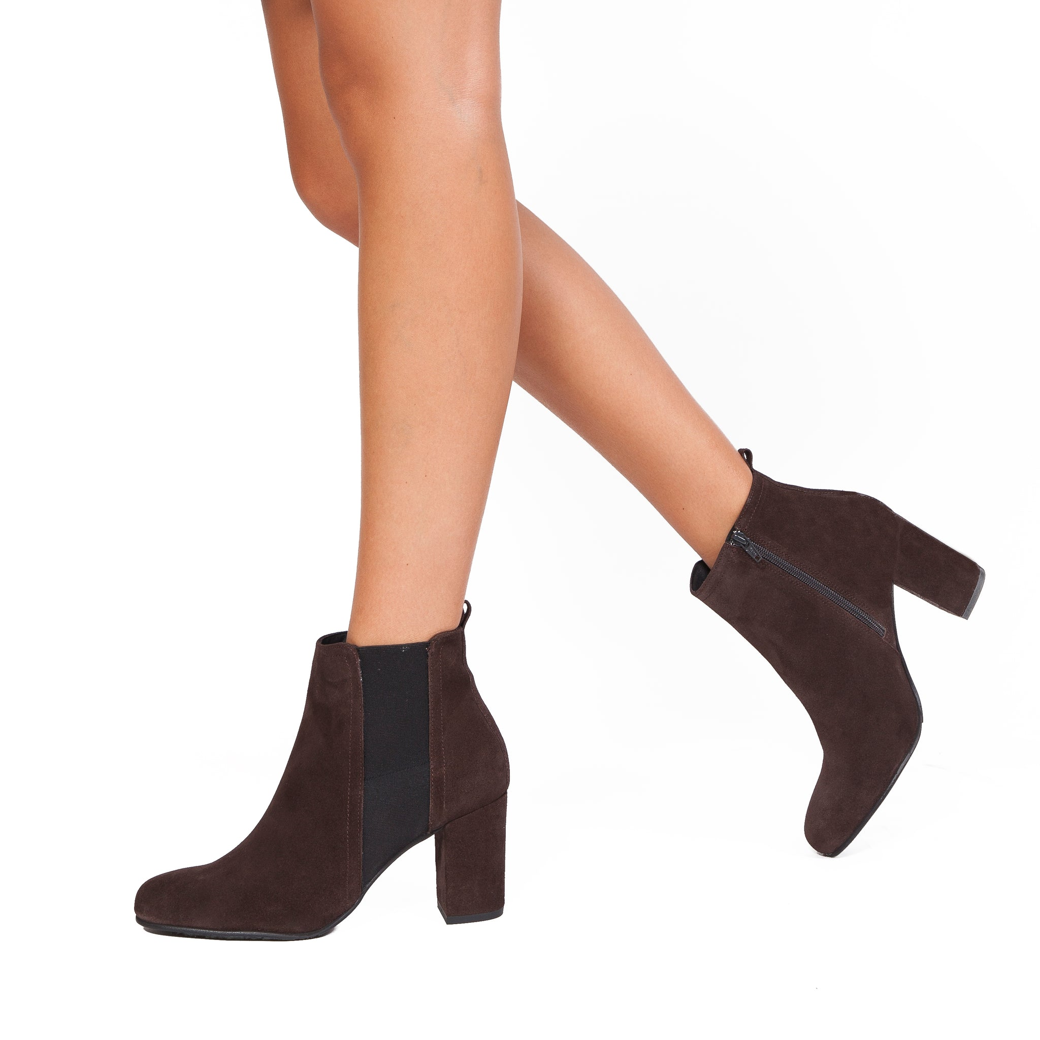 BOTTINES URBAN à talon chocolat miMaO – miMaO FR 7cdd94903b17