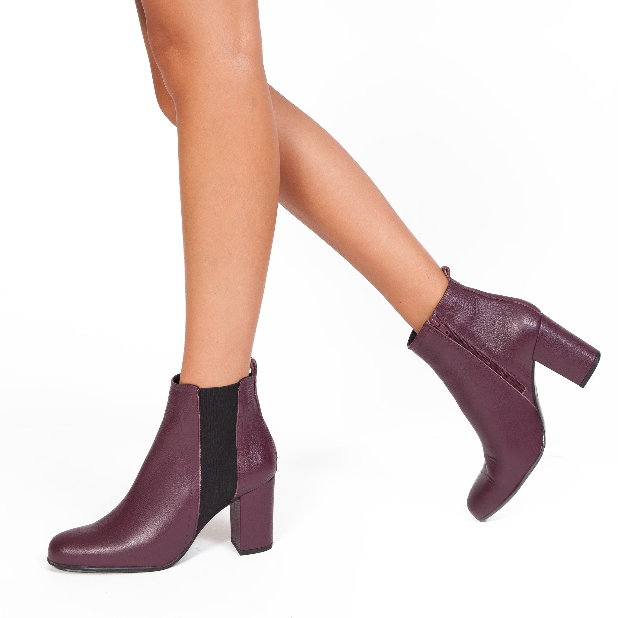 BOTTINES URBAN à talon BORDEAUX miMaO – miMaO FR 11683c7c9390
