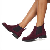 OXFORD - Bottine pour femme Chelsea BORDEAUX