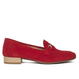 Mocassins en cuir Rouge