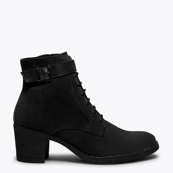 TOP - Bottines à lacets NOIR à talon
