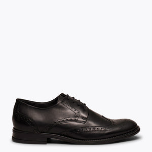 OXFORD - Chaussure homme NOIR avec coupe anglaise