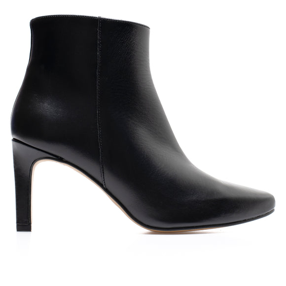 STILETTO - bottines kitten heel cuir NOIR
