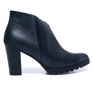 BOTTINES CLASSIC – Bottines pour femme à talon BLEU MARINE