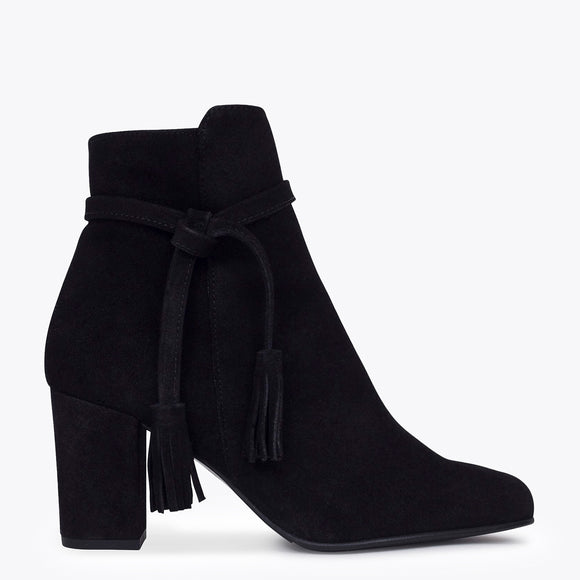 BOTTINES BOHO à talon noir