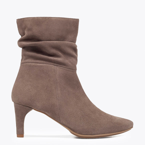 BOTTINES FASHION femme à talon TAUPE