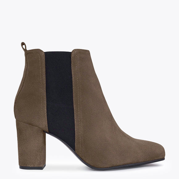 BOTTINES URBAN à talon TAUPE