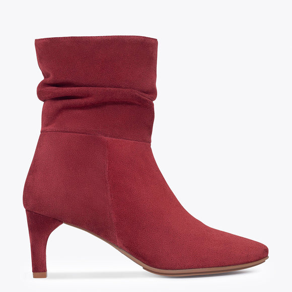 BOTTINES FASHION femme à talon BORDEAUX