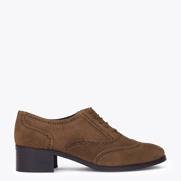 BALMORAL - Chaussures Oxford pour femme à lacets TAUPE