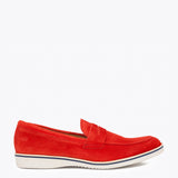 Mocassins Homme Memory Foam Rouge
