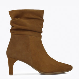 BOTTINES FASHION femme à talon CAMEL