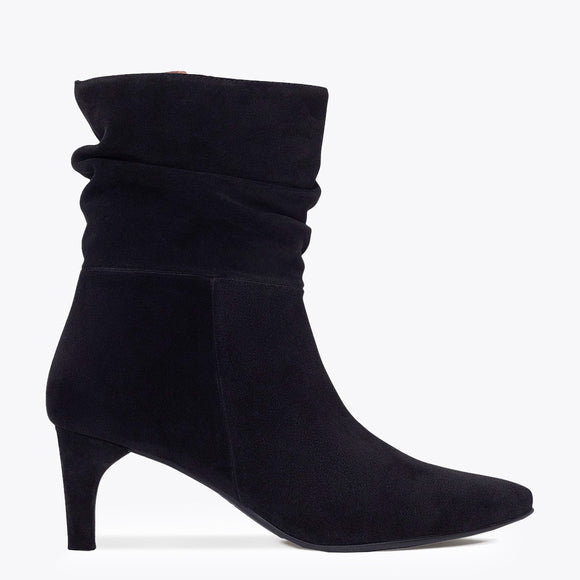 BOTTINES FASHION femme à talon NOIR