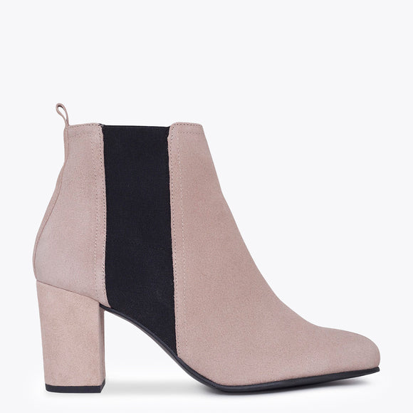 BOTTINES URBAN à talon NUDE