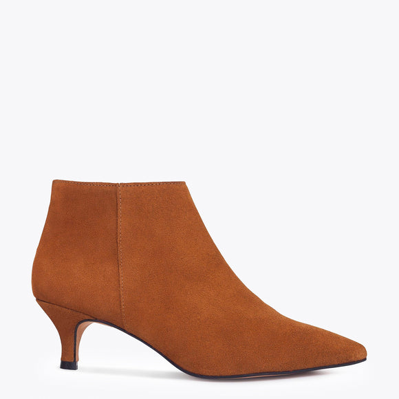 OUTFIT- bottines kitten heel terracota