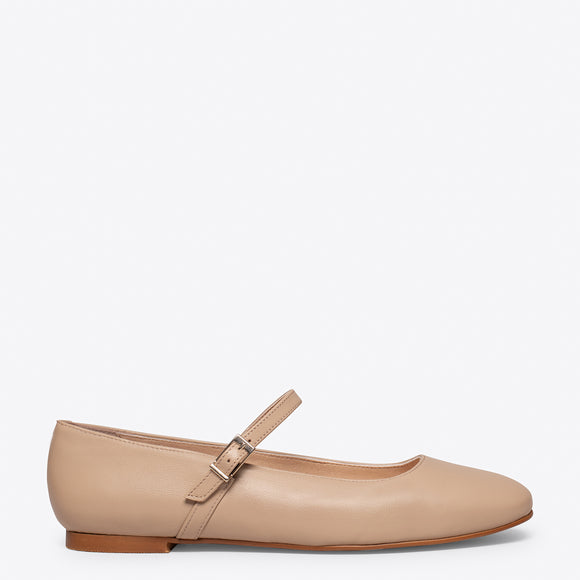 BALLERINES BABIES – Ballerines pour femme cuir TAUPE
