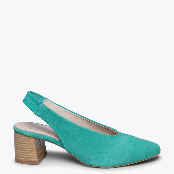STYLE V - Chaussures à petits talons TURQUOISE