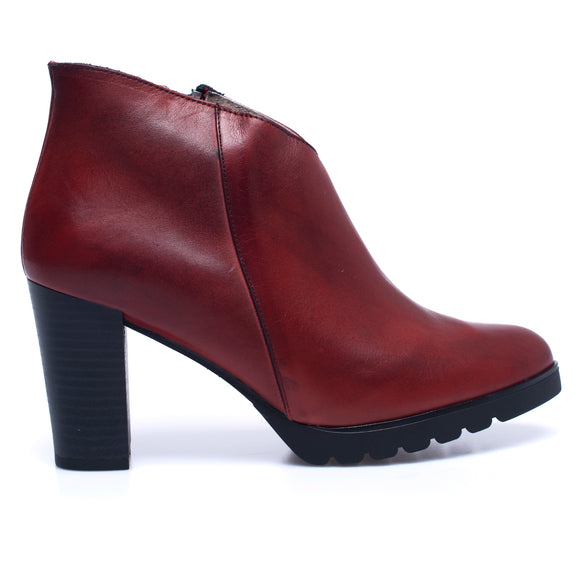 BOTTINES CLASSIC – Bottines pour femme à talon ROUGE