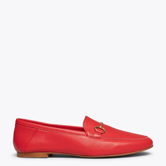 chaussures plates femme rouge