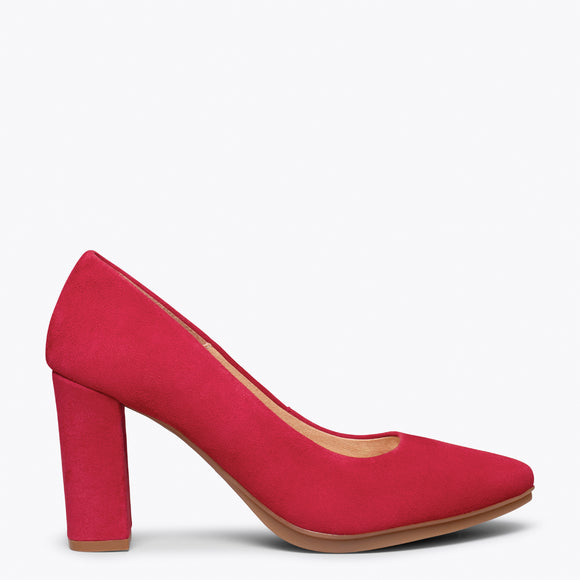 chaussure femmes rouge