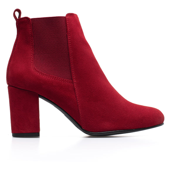 BOTTINES URBAN- Bottines à talon ROUGE