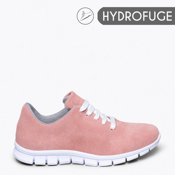 WALK- Sneaker pour femme ROSE CLAIR hydrofuge