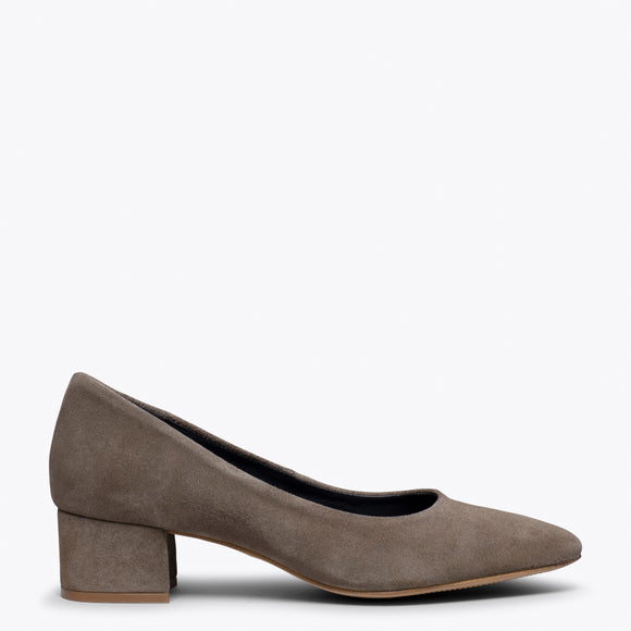 URBAN TREND - Chaussure à bout carré TAUPE