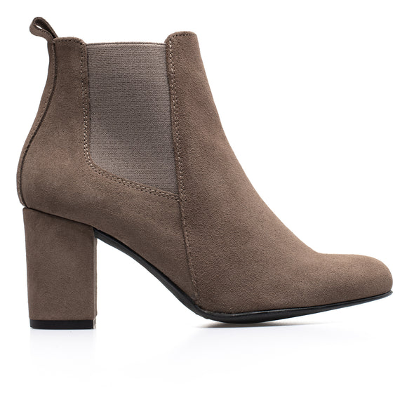 BOTTINES URBAN- Bottines à talon TAUPE