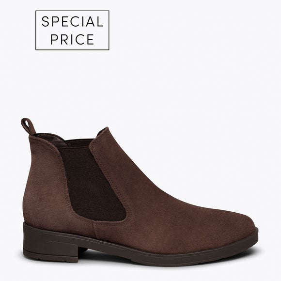 PICADILLY - Bottines chelsea MARRON pour femme