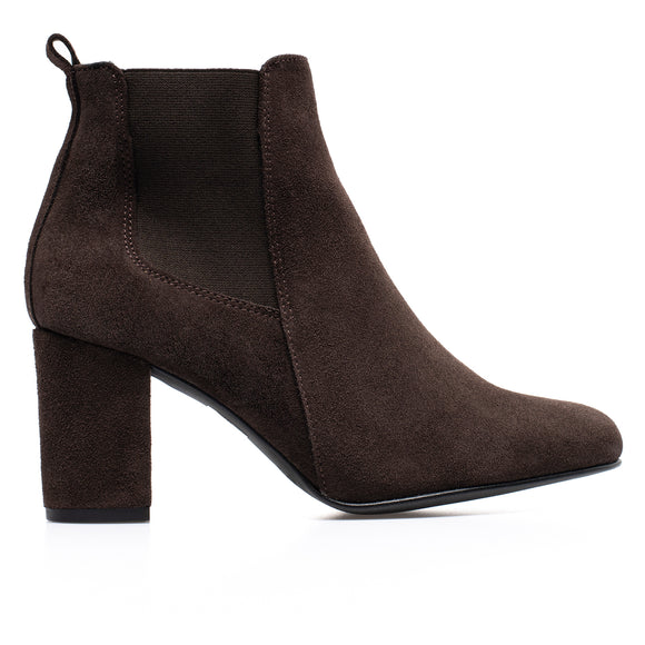 BOTTINES URBAN- Bottines à talon MARRON
