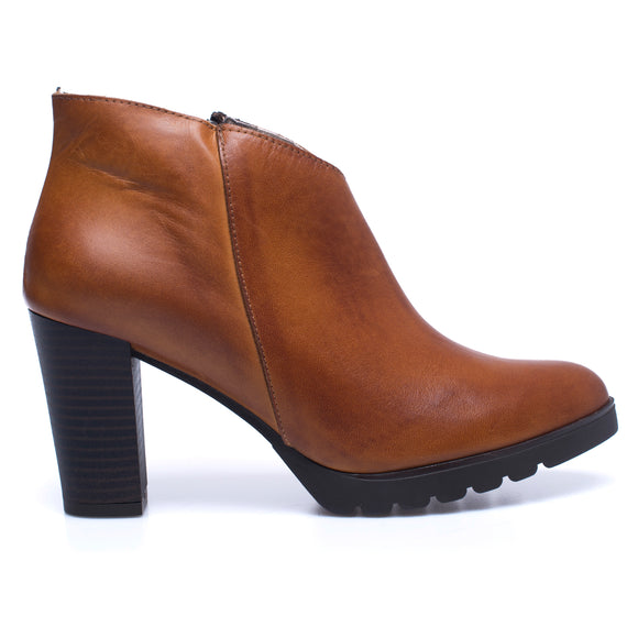 BOTTINES CLASSIC – Bottines pour femme à talon CAMEL